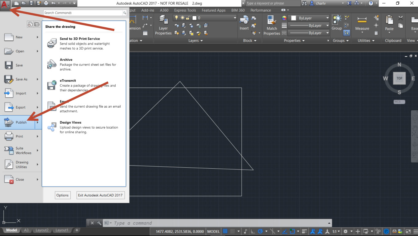 step-1 How to Batch print to PDF from AutoCAD