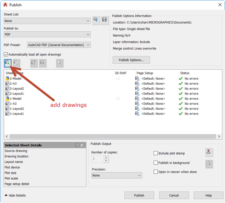 step-4 How to Batch print to PDF from AutoCAD