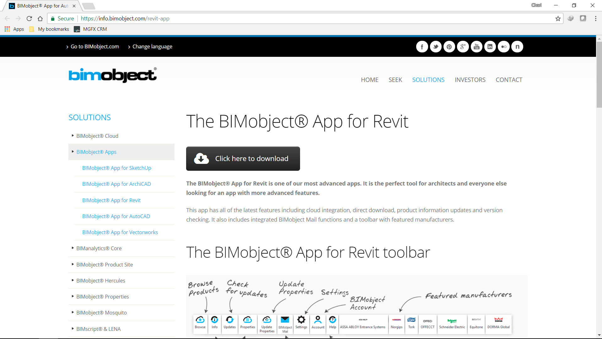 Free Revit content from BIMobject