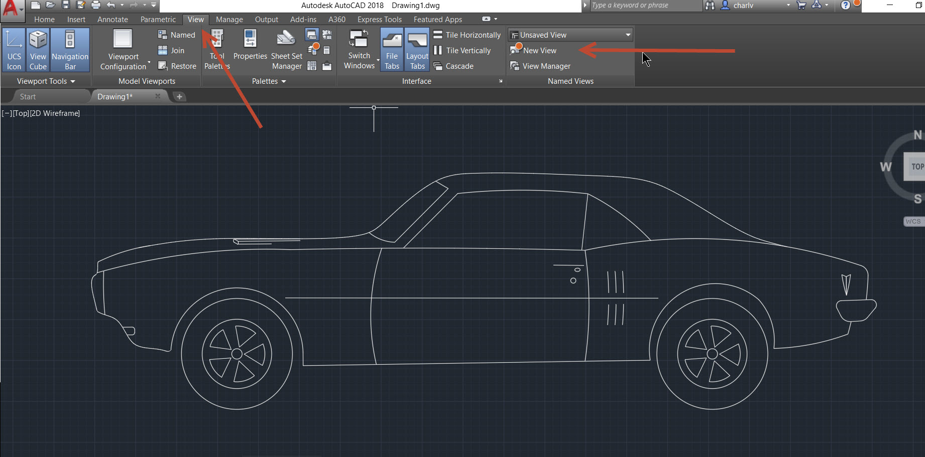 4a AutoCAD 2018.1 new feature – Named View and Viewport creation.