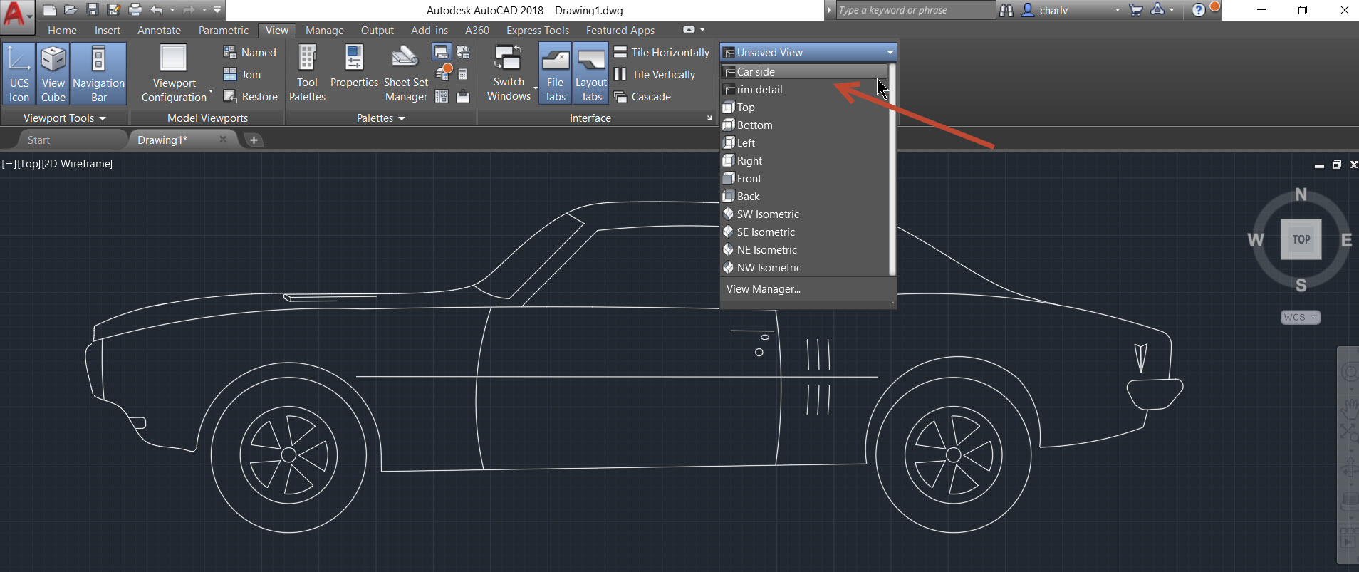 4c AutoCAD 2018.1 new feature – Named View and Viewport creation.