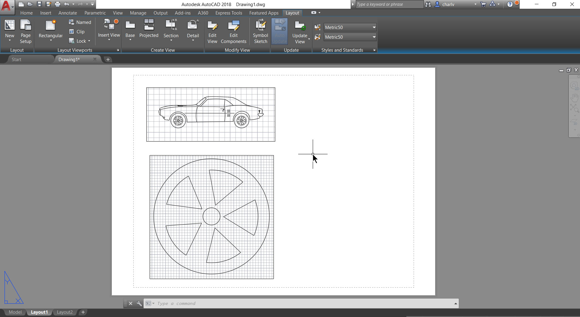 4e AutoCAD 2018.1 new feature – Named View and Viewport creation.