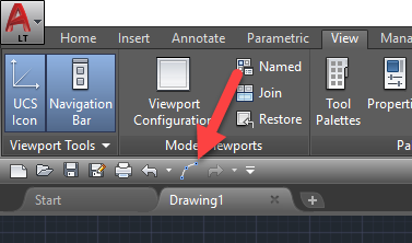 5-1 AutoCAD Quick Access Toolbar - More Commands