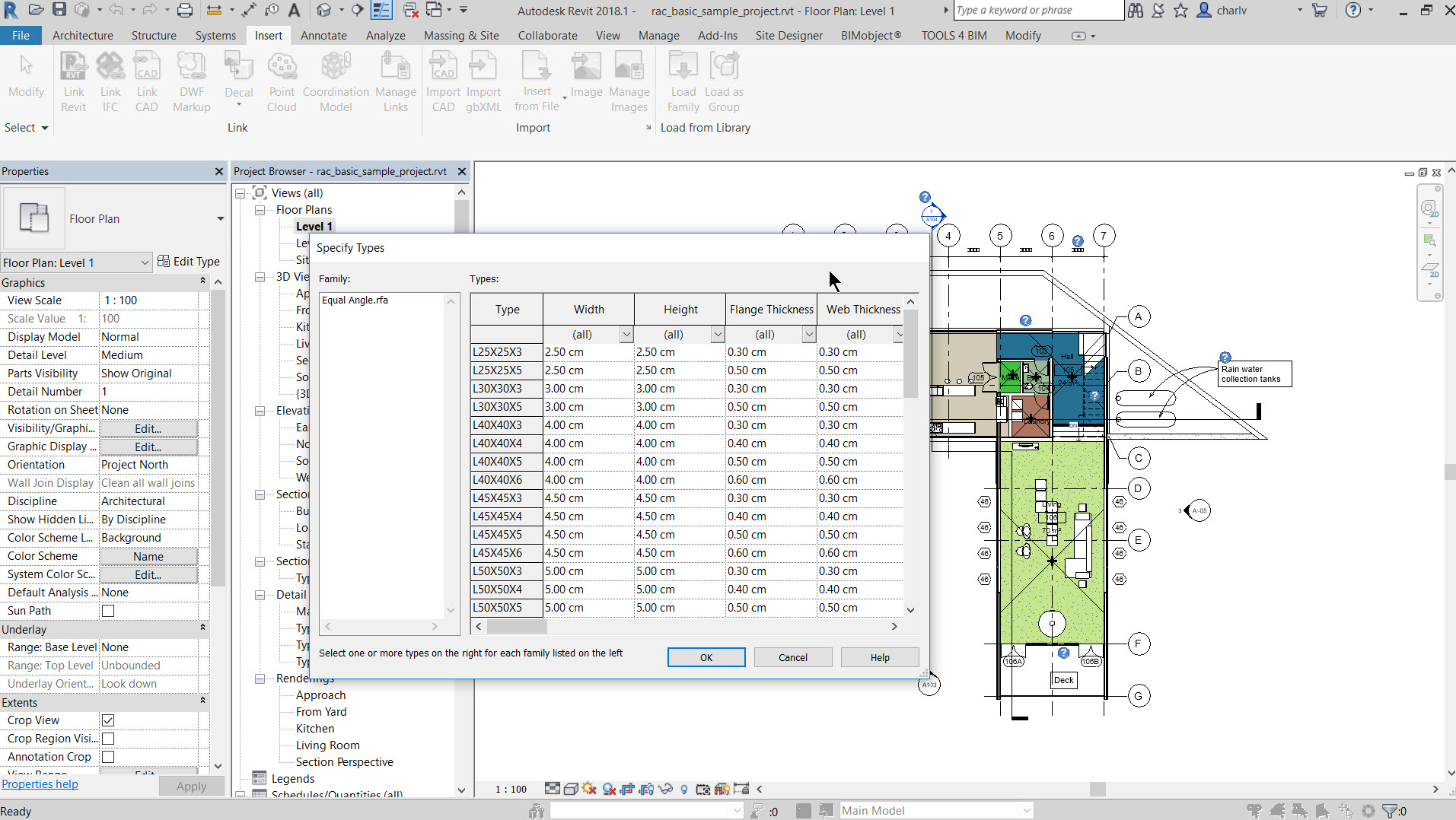 5c Revit 2018.1 new feature – South African Steel sections added