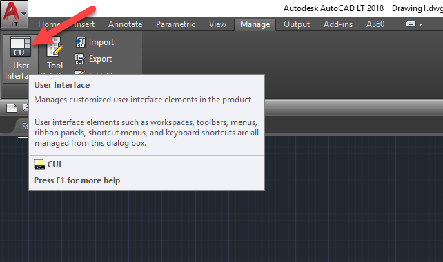 AutoCAD, Quick Access Toolbar, More Commands