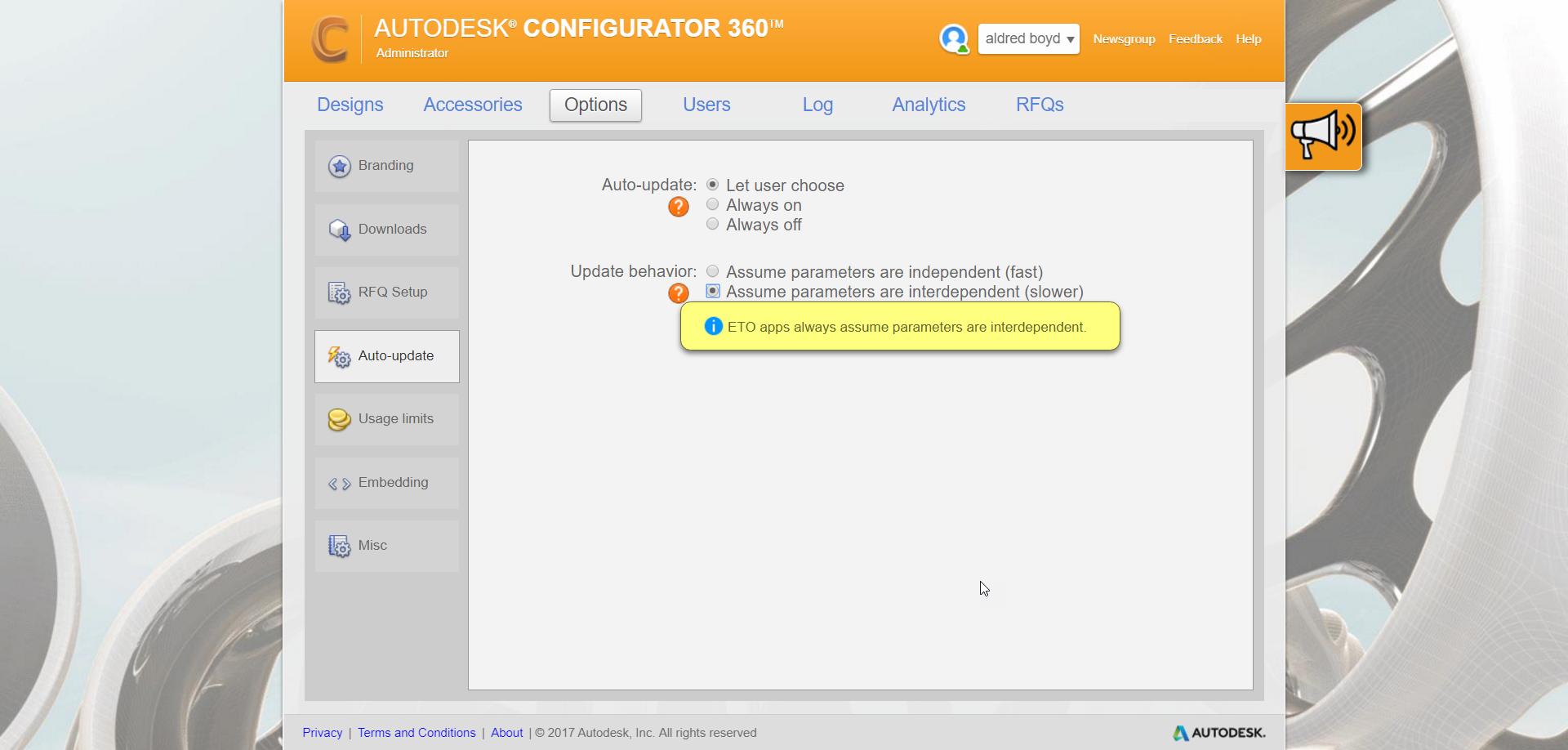 2-16 Configurator 360 - Auto update and usage updates