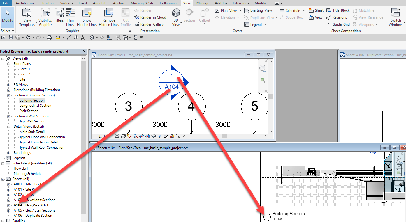 2-2 Revit – Duplicated Section Headers