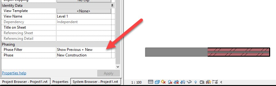 3-1 Revit - Displaying Wall Layers in Phasing