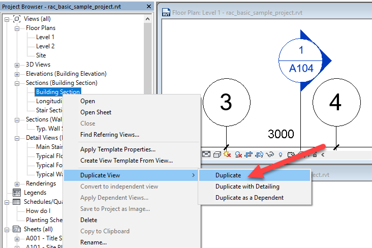 3-1 Revit – Duplicated Section Headers