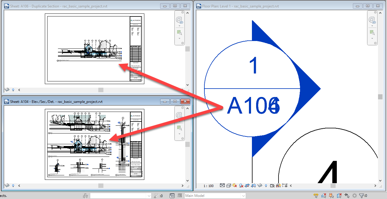 4-1 Revit – Duplicated Section Headers