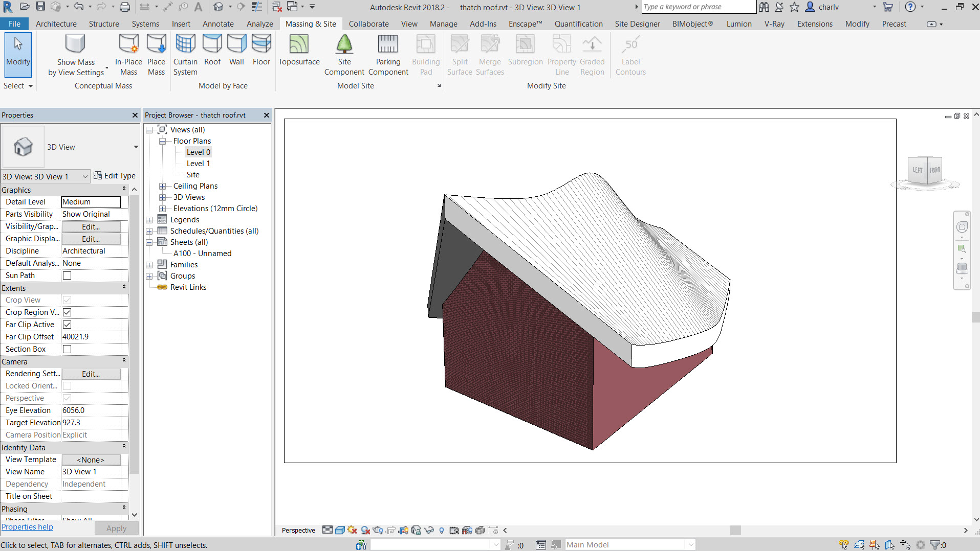 18 How to create a thatch roof in Revit