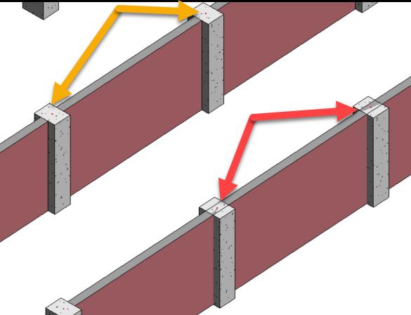 1-19 Column in Wall: Revit vs Navisworks