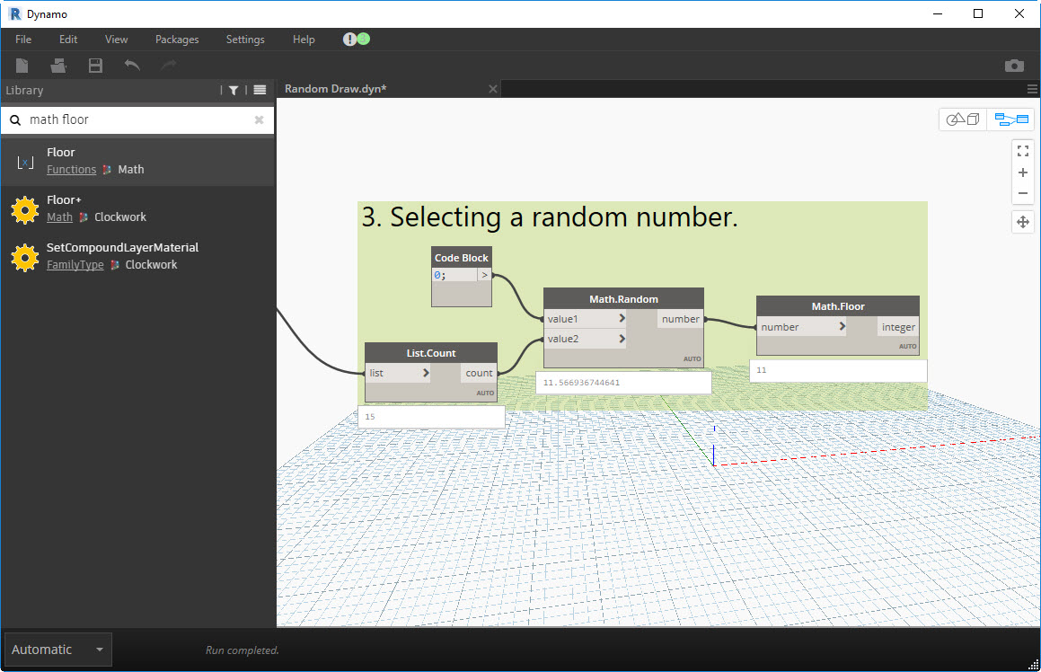 random-draw-25 How to create a business card draw using Dynamo, Revit and an Excel sheet.