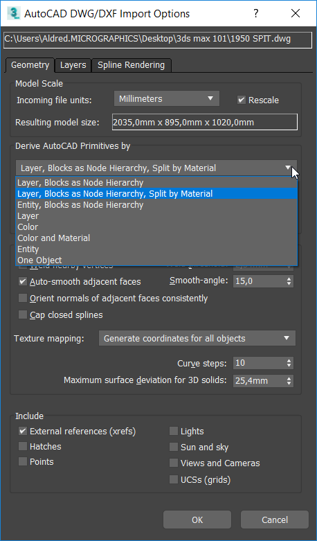 Importing AutoCAD files into 3ds Max - Part 1