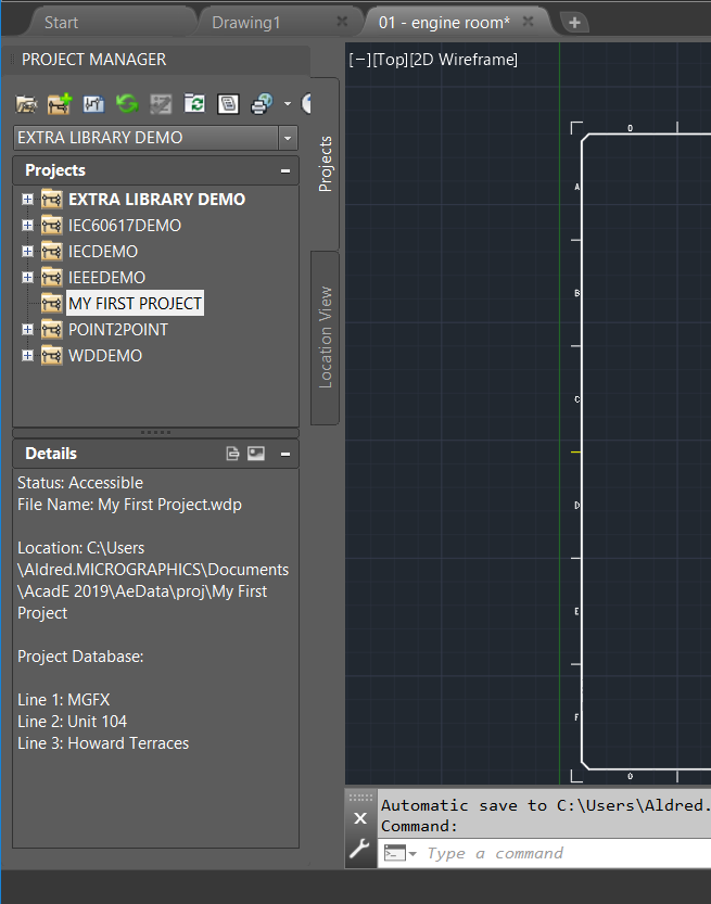 Create an AutoCAD Electrical Project
