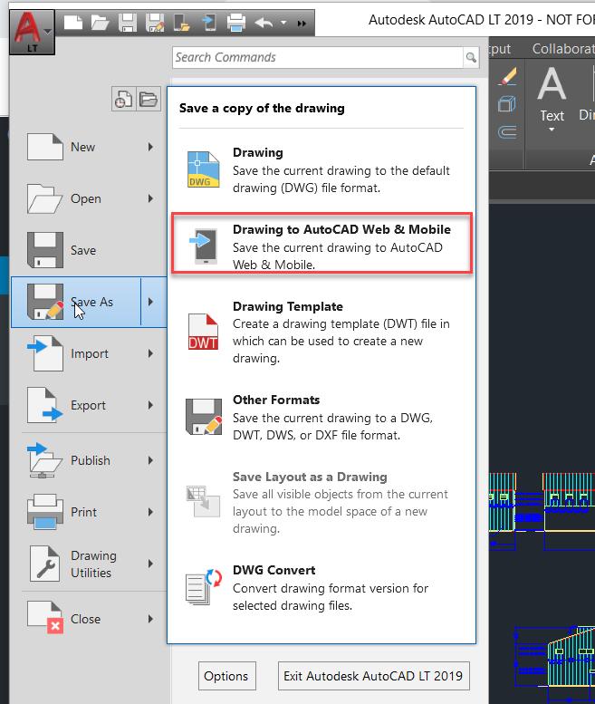 1-10 Saving AutoCAD Data into A360