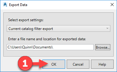 Plant3D_Catalog_mass_edit_07_Export_to_Excel_Menu_Select_OK Plant 3D – Mass Catalog Edit