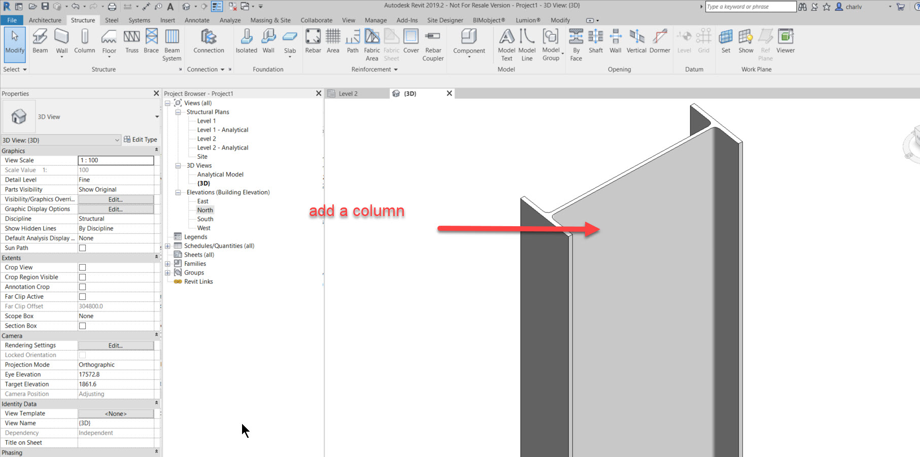 step-1-add-a-column-for-instance How to add a set of bolts in Revit