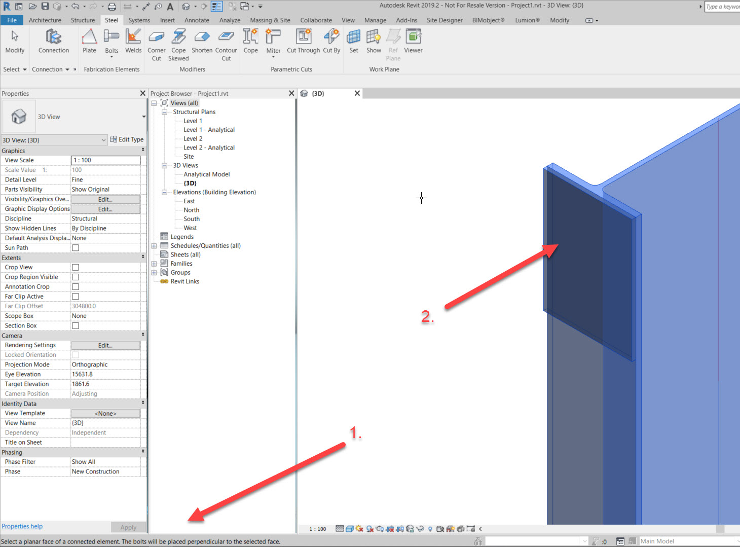 step-3b How to add a set of bolts in Revit