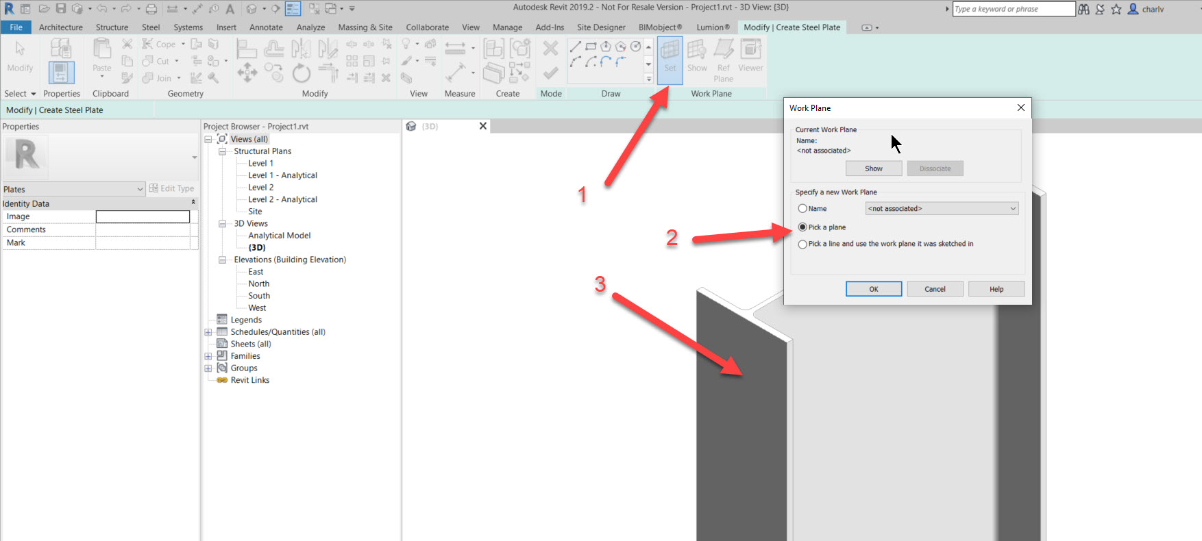 step2a How to add a set of bolts in Revit