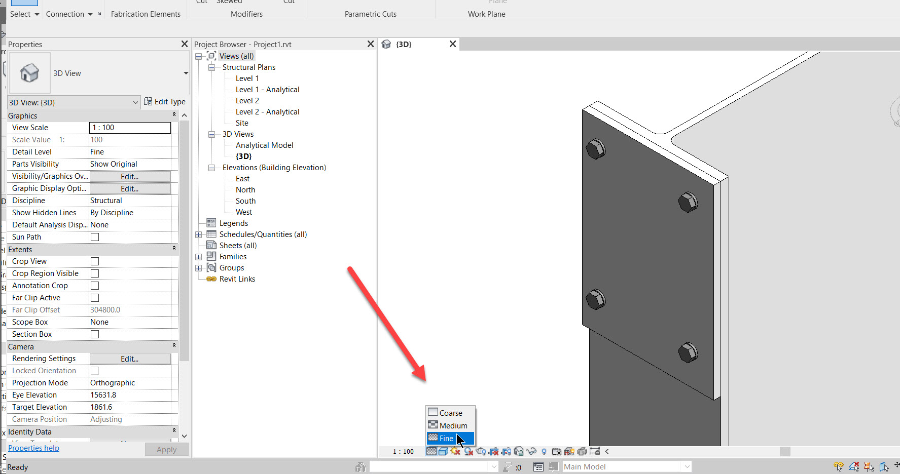 step5 How to add a set of bolts in Revit
