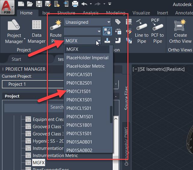 1-6 Updating Spec in Plant 3D