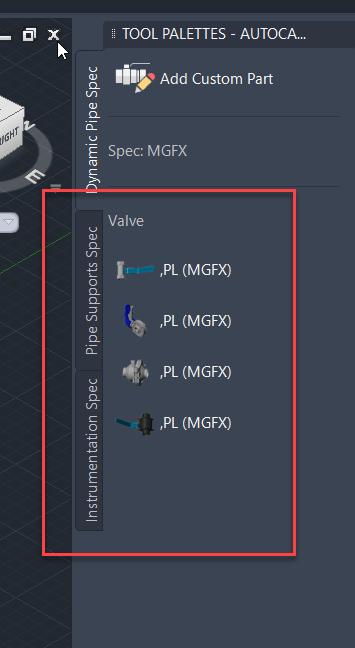 1-8 Updating Spec in Plant 3D