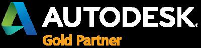 autodesk gold partner logo - white