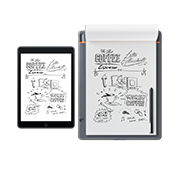 "A smartpad that allows you to write naturally with pen on any paper, and with the push of a button convert your handwritten notes into ""living"" digital files."