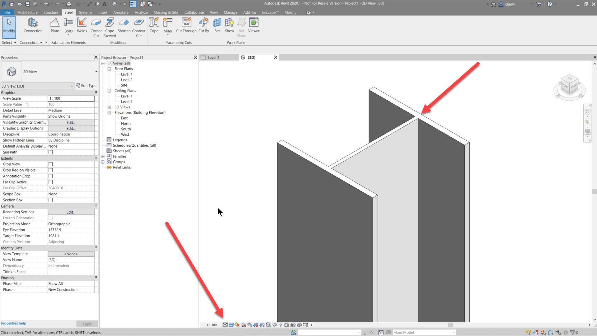 Contour-Cut-1.-Medium-Lod Revit Steel Contour Cut issue