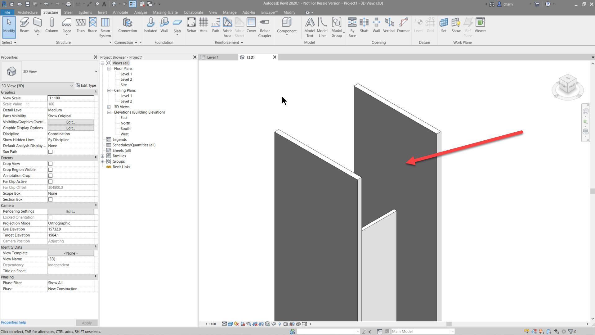 Contour-Cut-10.-cut-in-Medium-LOD Revit Steel Contour Cut issue