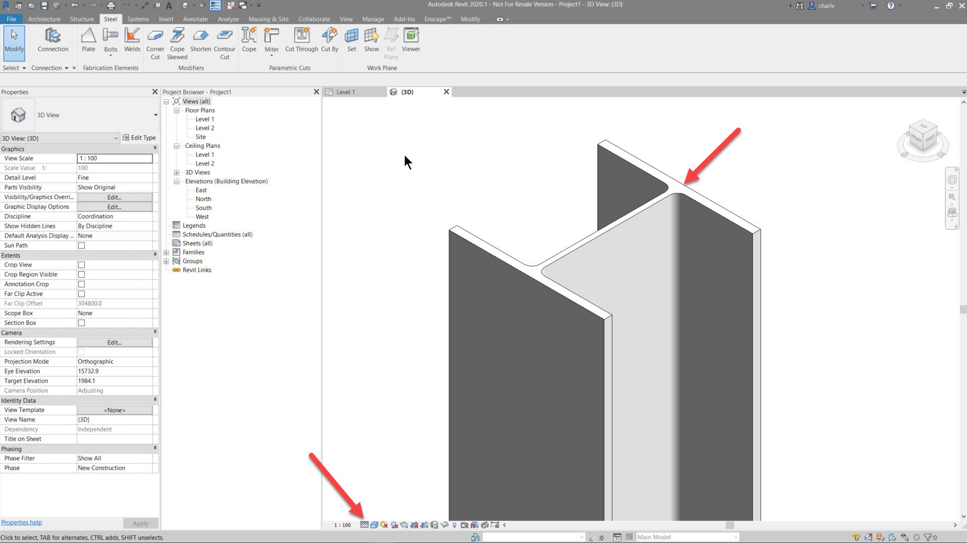 Contour-Cut-2.-Fine-Lod Revit Steel Contour Cut issue
