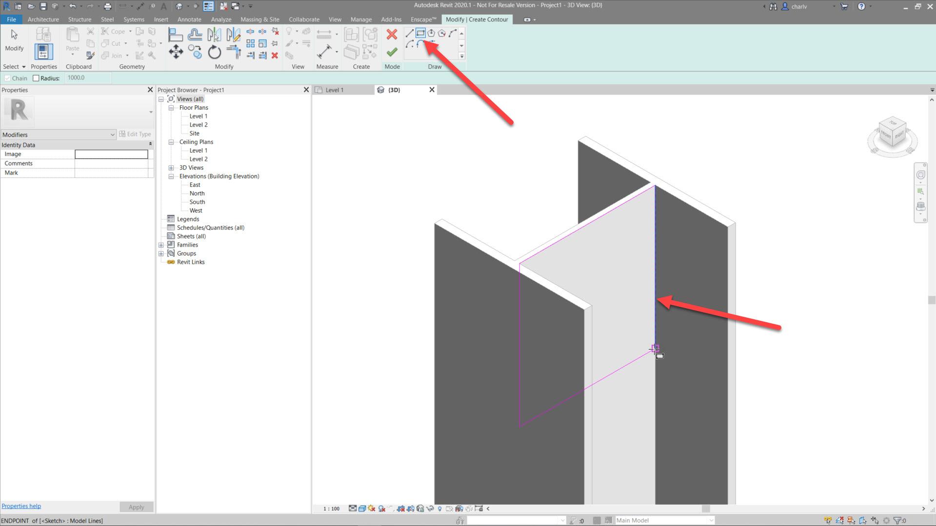 Contour-Cut-4.-Draw-area-to-cut Revit Steel Contour Cut issue