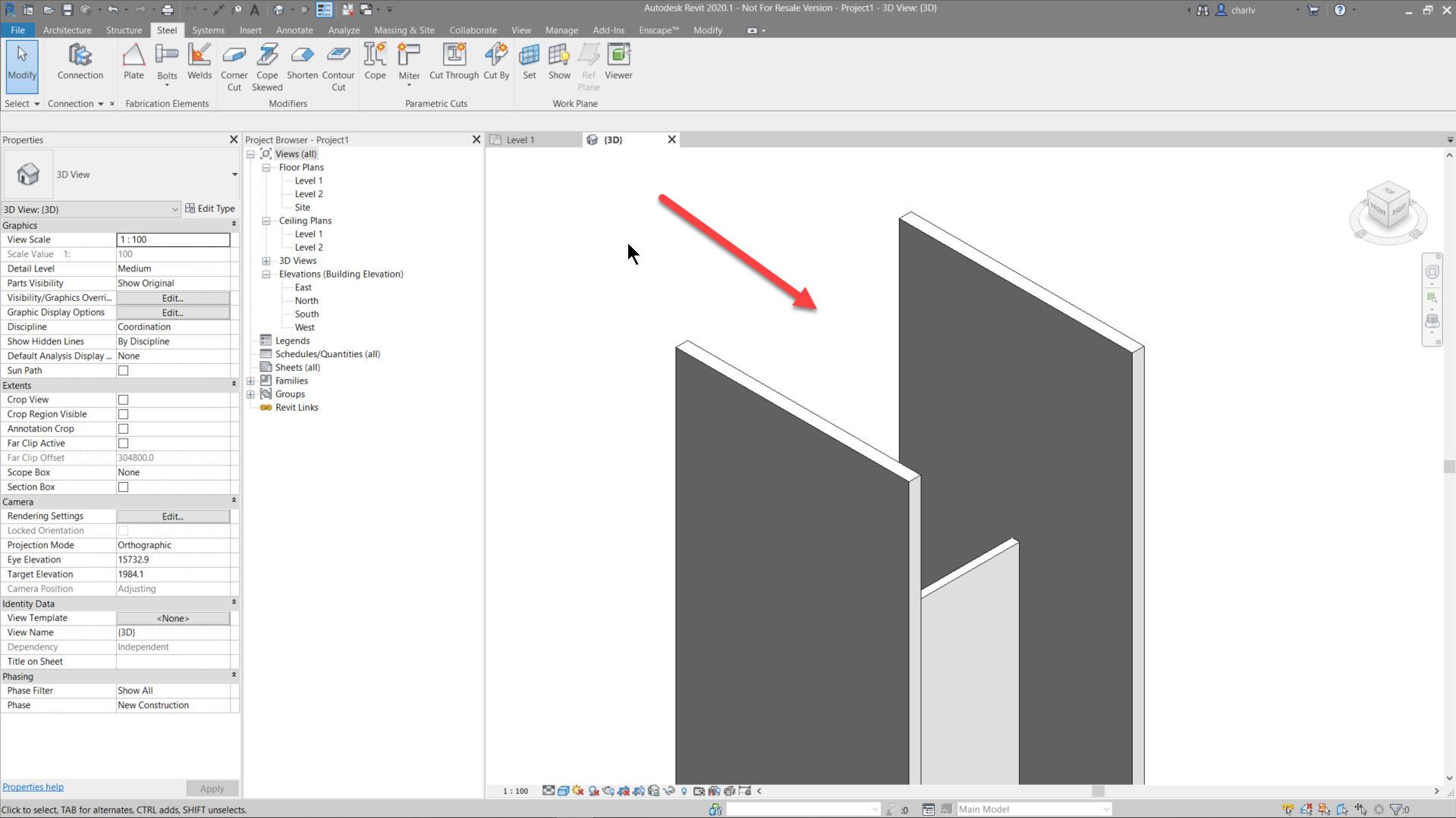 Contour-Cut-5.-Result-in-Medium-Lod Revit Steel Contour Cut issue