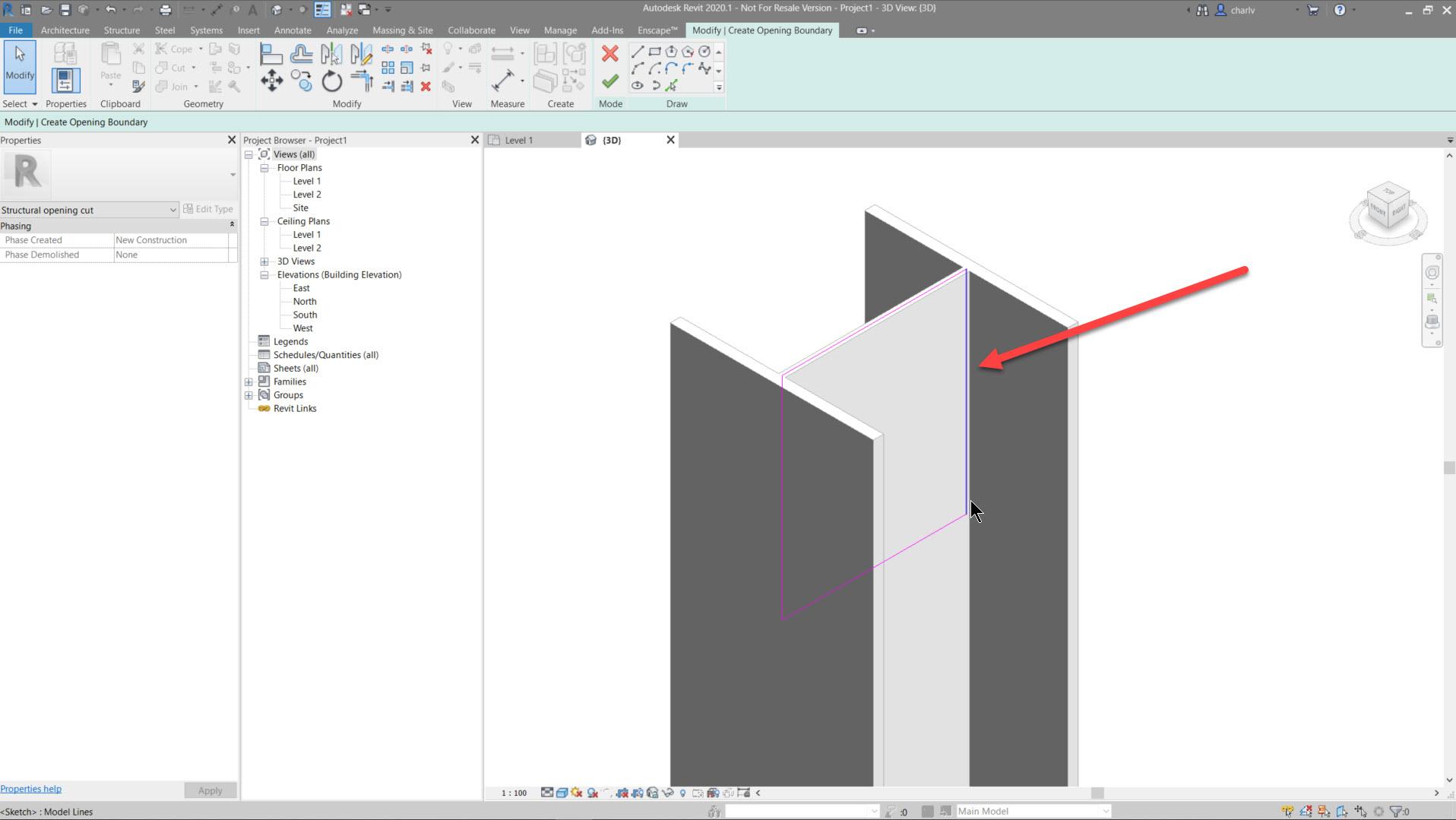 Contour-Cut-9.-draw-cut-area Revit Steel Contour Cut issue