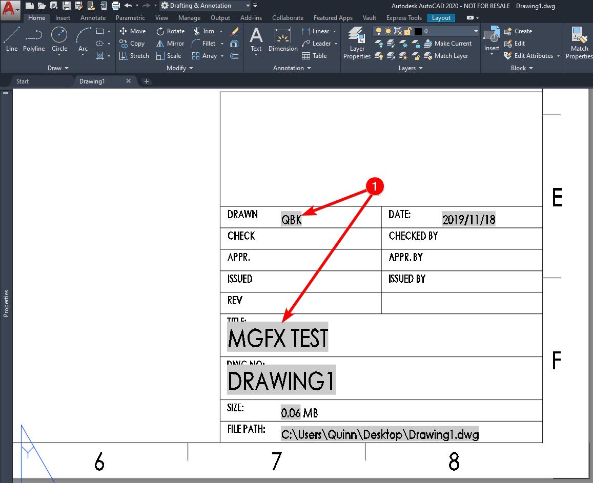 AutoCAD Advanced border information - 013 - Note border update