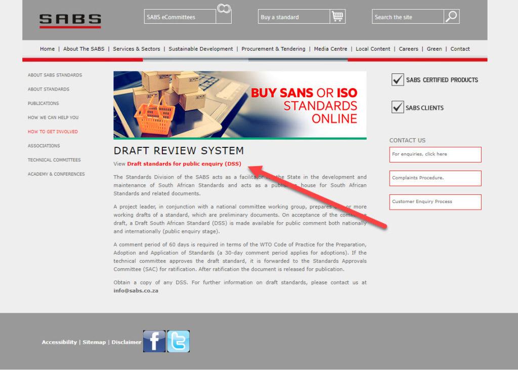 new draft sans10400-xa standards 1. visit sabs site
