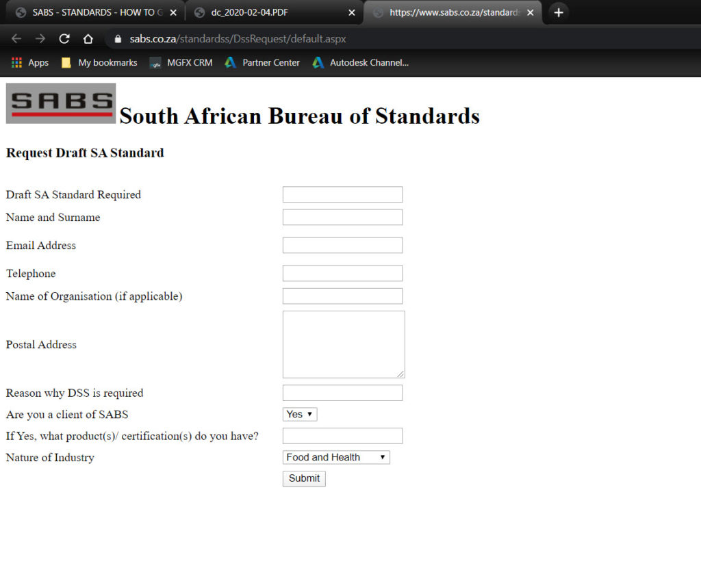 new draft sans10400-xa standards 4. Complete form and submit