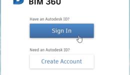 Plant 3D BIM collaboration project - Part 2 - BIM 360 Side - 001 - BIM360 Sign in button