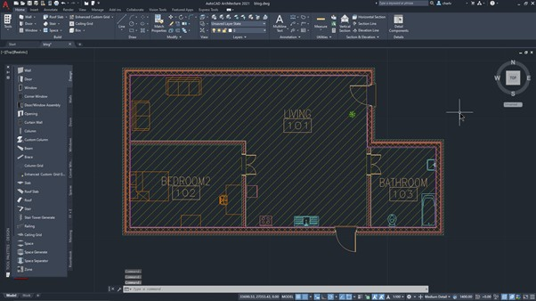 How to create a room content schedule in AutoCAD Architecture - 1 arch building