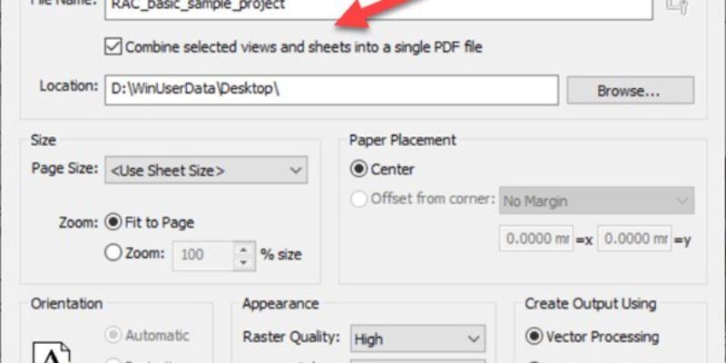 PDF Export -4 Set PDF Settings