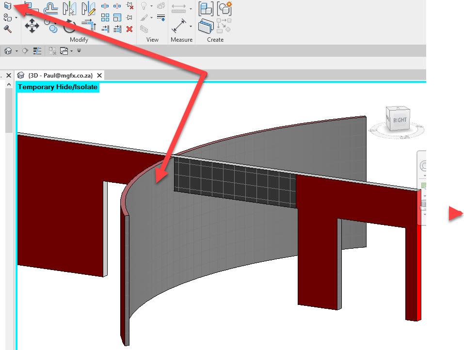 Autodesk, Revit 2022, Curved Walls, Cut Face, Material, Lumion, LiveSync