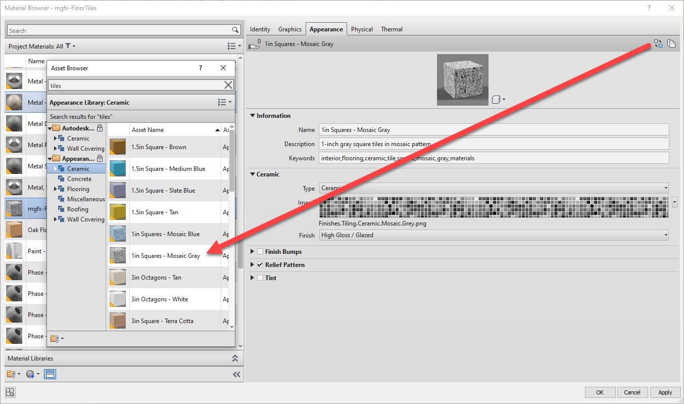 Autodesk, Micrographics, Revit 2022, Custom Material Definition