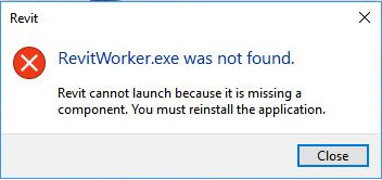 How to create a Windows Batch file to solve the error Revit Worker was not Found- 1 Error