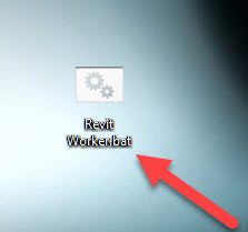 How to create a Windows Batch file to solve the error Revit Worker was not Found- 8 Batch File