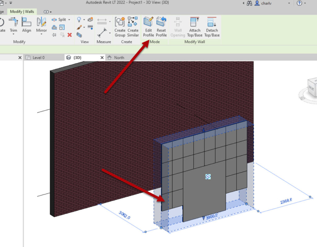 How to create a Revit custom curtain wall 2 Edit profile