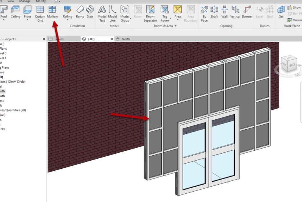 How to create a Revit custom curtain wall 6 Add the mullions